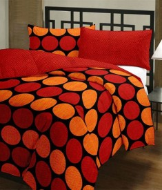 H'Decor Polka Queen Dohar Red, Orange