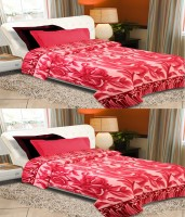 Home Originals Floral Single Blanket Pink, 2 Single Bed AC Fleece Blanket