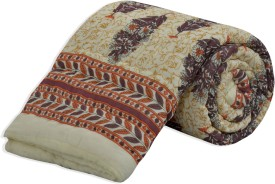 Salona Bichona Floral Single Quilts & Comforters White