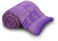 Home India Self Design Double Quilt Blue
