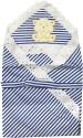 U & ME Blue Stripe Wrapping Sheet Receiving Blanket - Single
