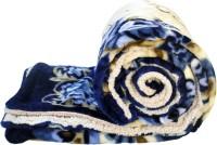 JK Handloom Printed Single Blanket Blue