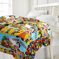 ECraftIndia Chota Bheem Kids AC (Dohar) Graphic Single Blanket (Fallalin, Multicolor)