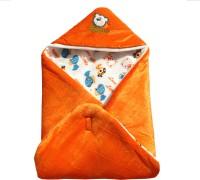 My NewBorn Cartoon Crib Hooded Baby Blanket Tangerine (One Lovable Velvet Hooded Baby Blanket)