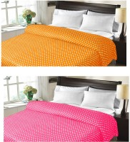 Christy's Collection Checkered Double Fleece Blanket Orange