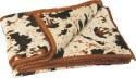 Dexim Cream With Beautifull Print AC Blanket - Double