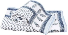Little India Paisley Single Quilts & Comforters Blue
