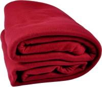 Kema Plain Single Blanket Red Fleece Blanket, Polar Fleece Blanket