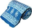 Little India Bandhani Print Cotton Single Bed Razai Quilt 114 Modern Ethnic Quilt - Single