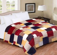Home Originals Checkered Double Blanket Multi Color Coral Blanket, 1 Blanket