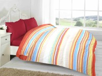 Fabutex Striped Double Quilts & Comforters Multicolor, 1 Blanket