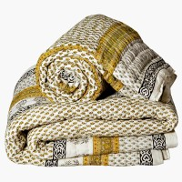 Little India Jaipuri Cotton Double and Single Bed Quilt Set 214 Modern Ethnic Quilt Double