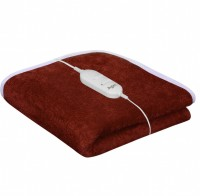 Warmland Plain Single Electric Blanket Coffee, Electric Bed Warmer