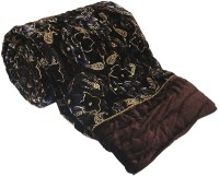 Little India Designer Jaipuri Double Bed Brown Velvet Quilt Modern Ethnic Quilt Double