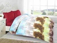 Fabutex Abstract Double Fleece Blanket Blue And Brown, 1 Fleece Blanket