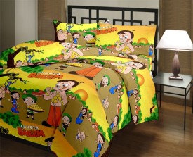 Bagru Crafts Cartoon Single Dohar Multicolor