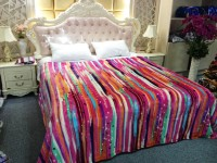 Home Originals Striped Double Coral Blanket Multi-color Stripes
