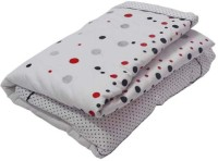 The Intellect Bazaar Printed Double Quilt White And Black