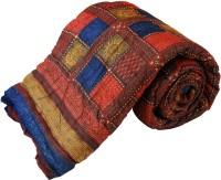 Little India Jaipuri Bagru Cotton Single Bed Razai Quilt Modern Ethnic Quilt Single