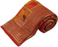 Bagru Crafts Floral King Quilts & Comforters Red Quilt
