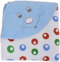 Warm Up Plain Single Fleece Blanket Sky Blue (1 Baby Blanket Cum Wrapper)
