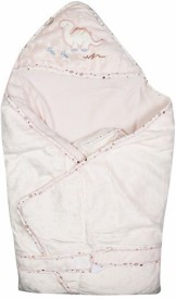 icablw Animal Single Hooded Baby Blanket Pink