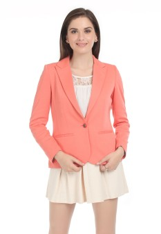 Oner Solid Single Breasted Casual Women Blazer