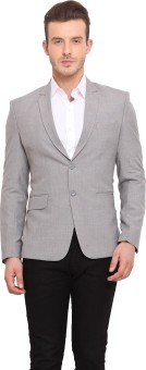 Ennoble Solid Single Breasted Casual Men's Blazer - BZRED7CN2AJGK4DP