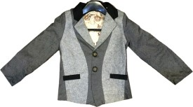 Littlelollydoodle Self Design Single Breasted Party Boy's Blazer