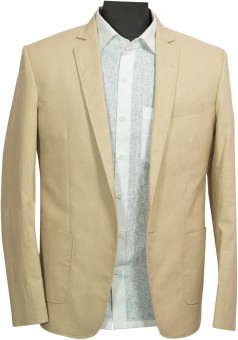 Blackthread.in Solid Single Breasted Wedding, Party, Formal, Casual, Festive Men's Blazer