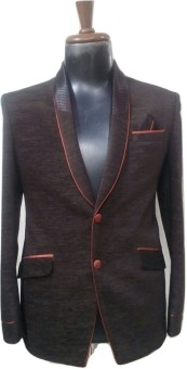 V-Mens Solid Tuxedo Style Casual, Lounge Wear, Beach Wear Men's Blazer