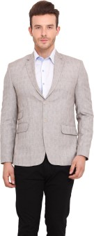 Ennoble Striped Single Breasted Casual Men's Blazer