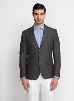 SUITLTD Striped Single Breasted Casual Men's Blazer - BZREB67KWNC3GEQ8