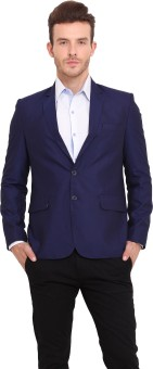 Ennoble Solid Single Breasted Casual Men's Blazer - BZRED7CNJASGNGAG