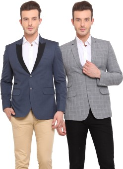 Ennoble Solid Single Breasted Casual Men's Blazer - BZREDM42PVTPY8ZG