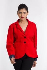 Liebemode Solid Single Breasted Formal Women's Blazer