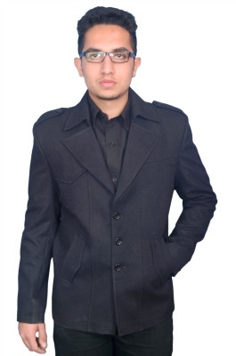 Fashion Fashion Style Solid Single Breasted Formal Men's Blazer (Black)