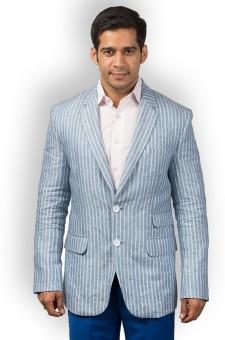 Hangrr Striped Single Breasted Casual Men's Blazer