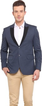 Ennoble Solid Single Breasted Casual Men's Blazer - BZRED7CNHECJX8AZ