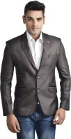 English Channel Checkered Single Breasted Formal Men's Blazer