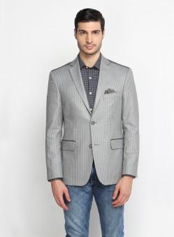 SUITLTD Striped Single Breasted Casual Men's Blazer - BZREB67KQHBGANYT