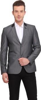 Ennoble Solid Single Breasted Casual Men's Blazer - BZRED7CNDMQHAPFJ