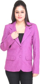 Trufit Solid Single Breasted Casual Women's Blazer