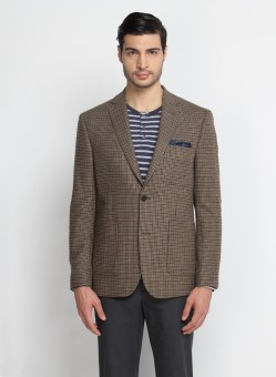 SUITLTD Houndstooth Single Breasted Casual Men's Blazer