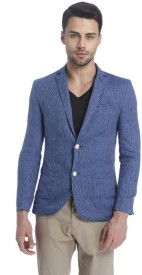 Jack & Jones Printed Double Breasted Casual Men's Blazer