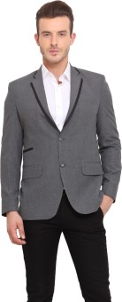 Ennoble Solid Single Breasted Casual Men's Blazer - BZRED7CNTWBRJHQQ