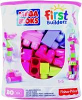 Barbie Mega Bloks First Builders Big Building Bag Girls (Multicolor)