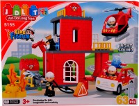 Mera Toy Shop Fire Fighter Blocks -63 Pieces (Multicolor)