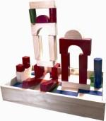 Kinder Creative Blocks & Building Sets Kinder Creative Building Blocks Color & Wood Finish