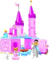 Toys Bhoomi Princess Cinderella's Castle Set – 63 Pieces (Pink)